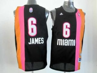 new styles bc6a1 96250 NBA Miami Heat James #6 New Fashion Adidas Jerseys Black ...