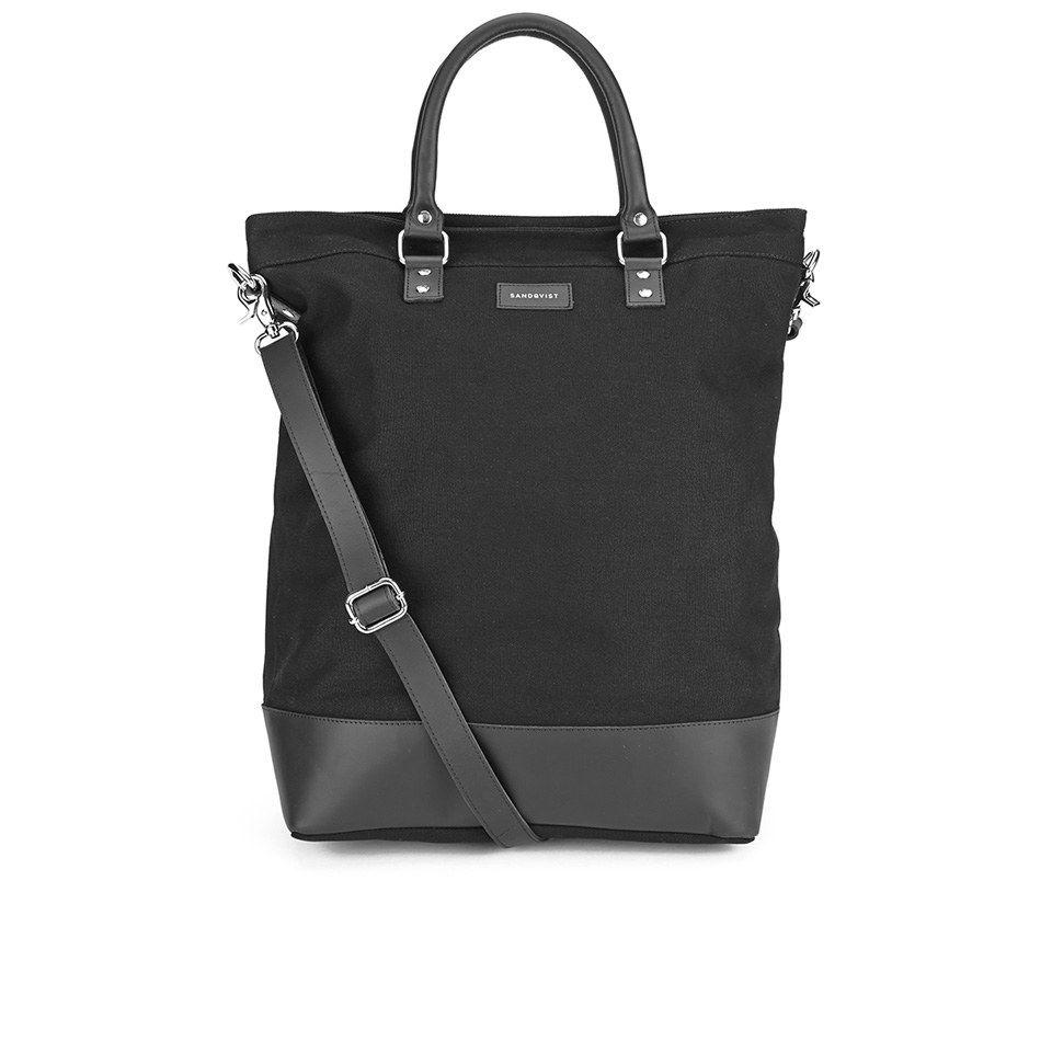 Sandqvist Women's Kaj Canvas Tote Bag - Black | Canvas tote bags ...
