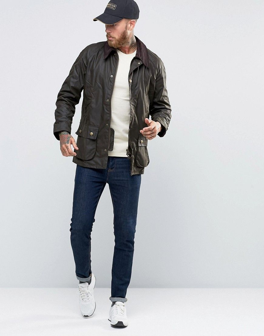 Barbour Ashby Waxed Jacket In Green at asos.com