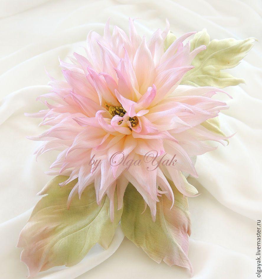 Цветы георгины из ткани своими руками фото 895
