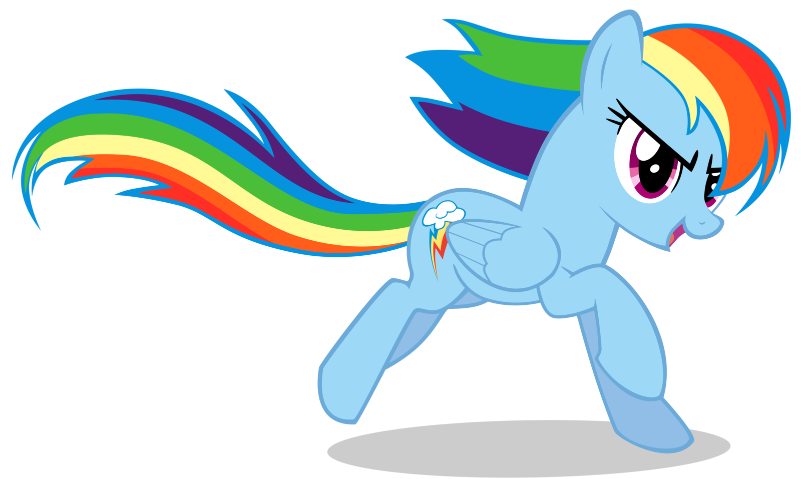 Mlp Rainbow Dash Running Rainbow Dash By Lazy Joe On