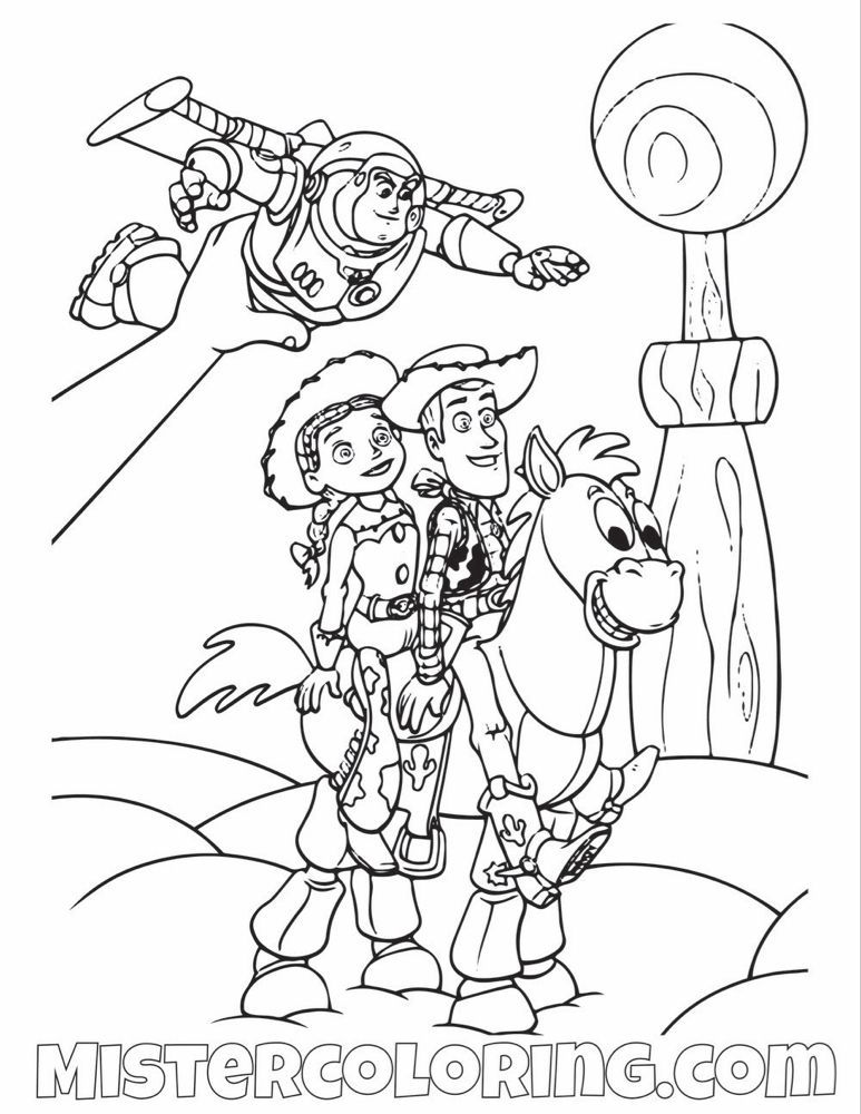 Toy Story Coloring Page For Kids Mister Coloring With Images