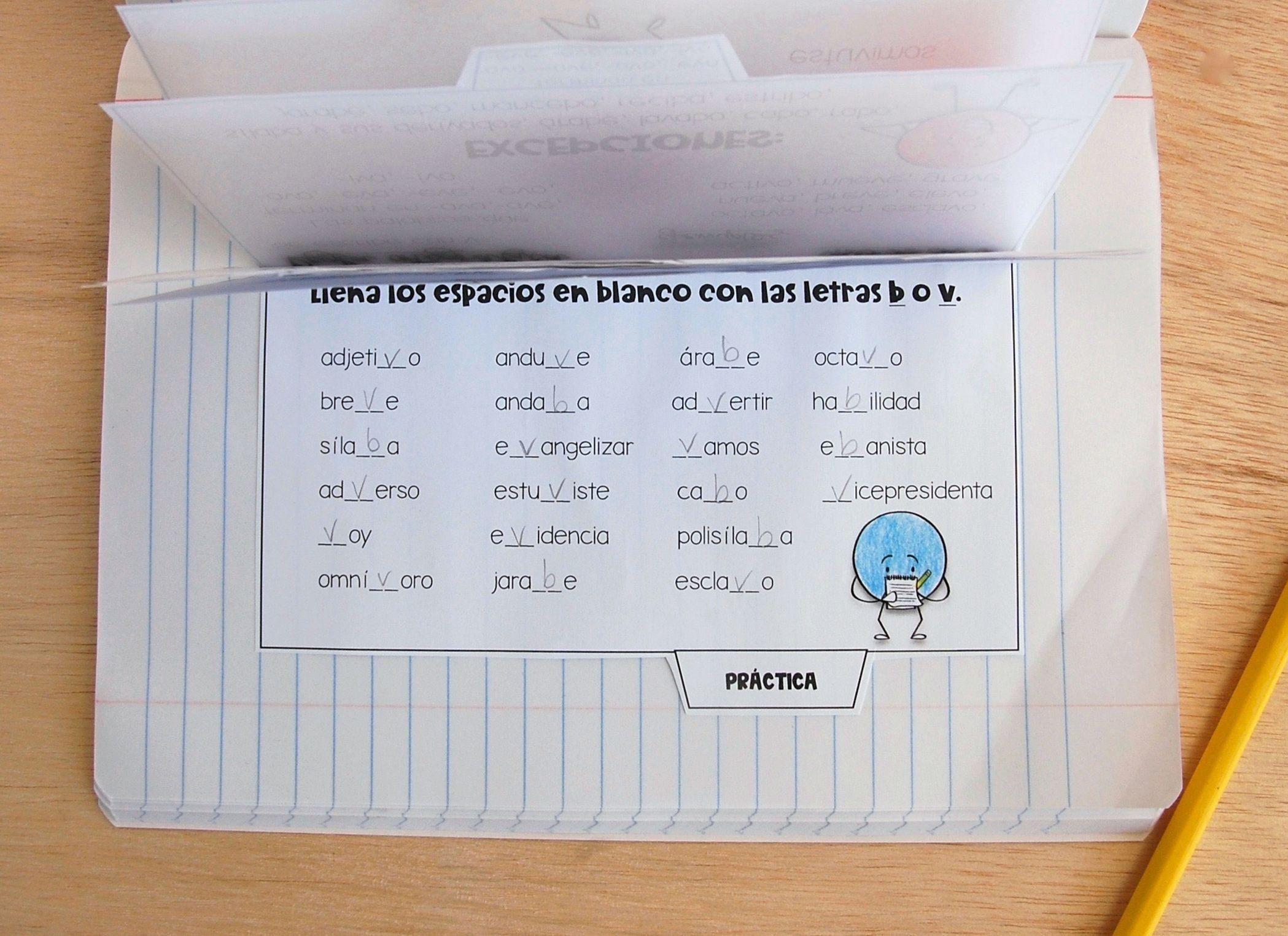 Libritos Plegables Reglas Ortograficas Letras B Amp V