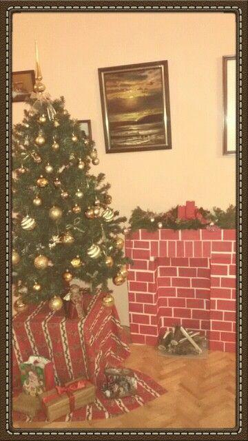 DIY Christmas fireplace :)