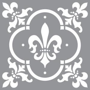 Decoart Americana Decor Fleur De Lis Tile Stencil  Stenciling