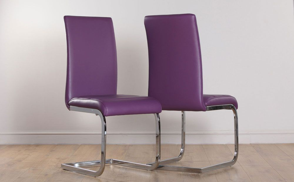 Perth Purple Leather Dining Chair For Only At Furniture Choice