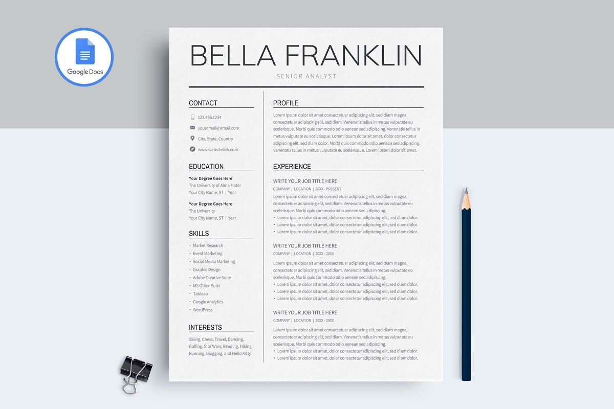 30+ Is there a resume template on google docs Resume Examples