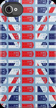 British Fandom Tardis Union Jack 2 iphone case