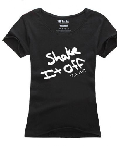 Taylor Swift shake it off t shirt for women slim T.S.1989 album tee-