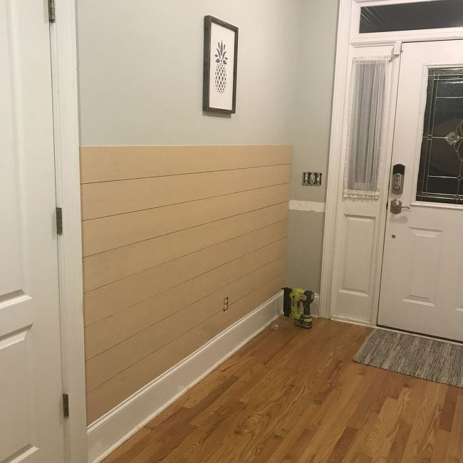 Accent Wall With Batten And Slidinf Door: Shiplap Board And Batten Wall