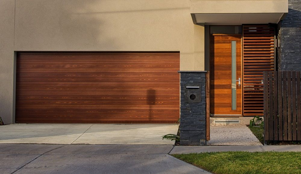 Contemporary Wooden Garage Doors Acvap Homes Easy To Find And