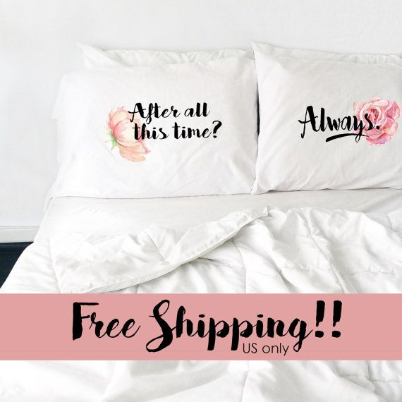 Valentinstag Ideen Fernbeziehung: Valentines Day Couples Pillowcase Harry Potter After All