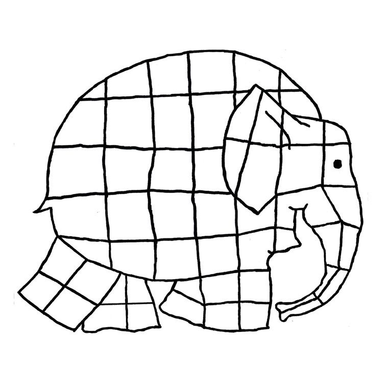 Elmer Elephant Coloring Page Kleurplaten Olifant Knutselen Thema