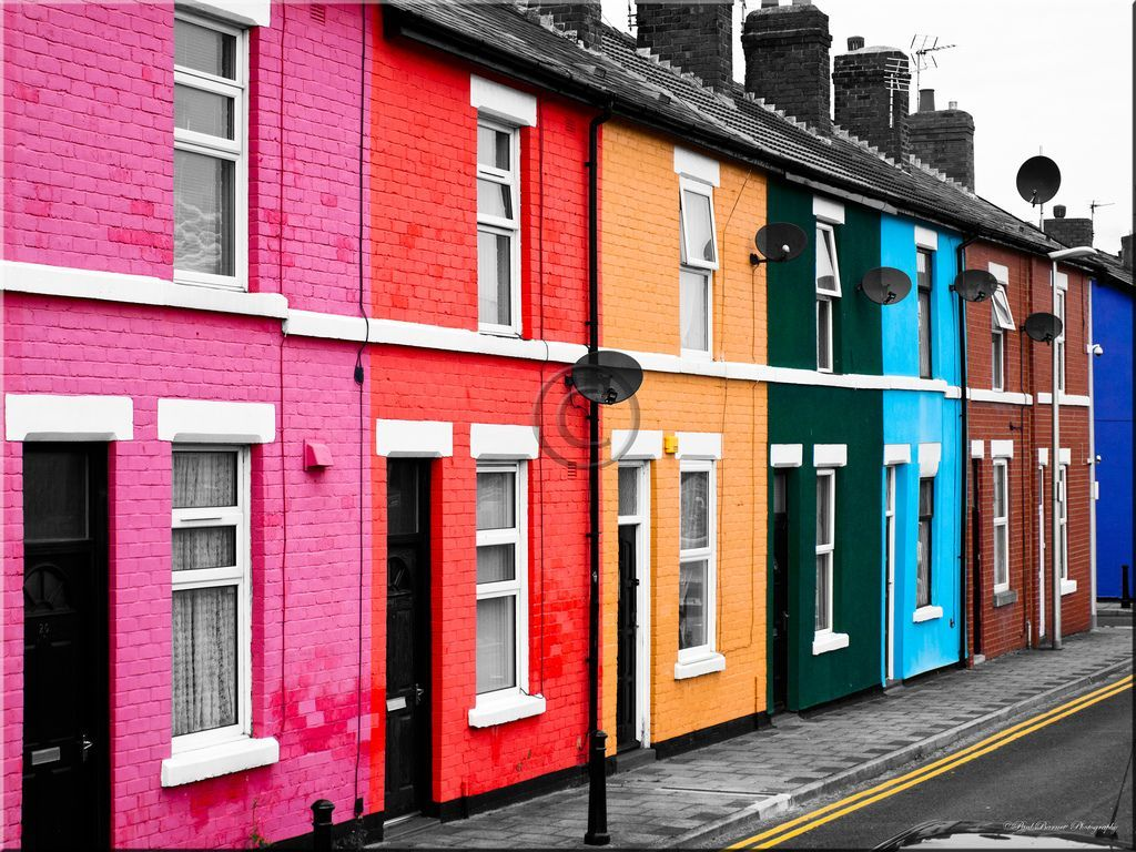 Colorful House english town blackpool :colorful homes from around the world