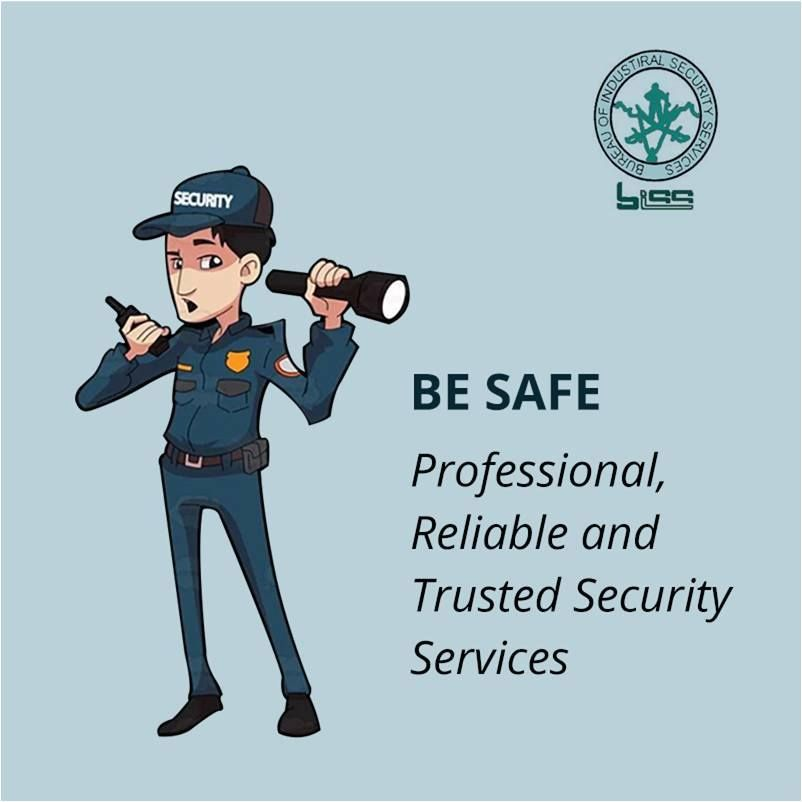 Be safe professional reliable and trusted security