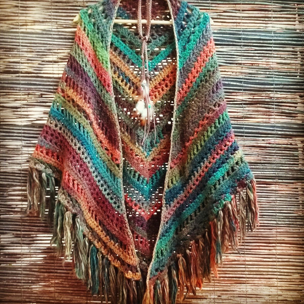 colorful open poncho Boho chic fashion | Fashion pour la femme ...