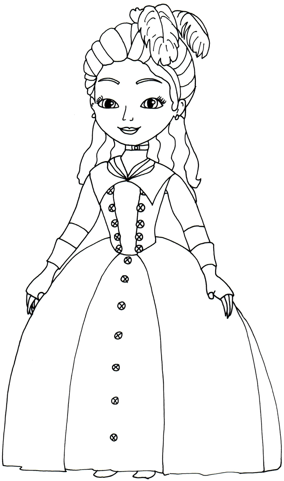 Princess Clio Sofia The First Coloring Page Disney Coloring Pages Printables Princess Coloring Pages Disney Coloring Pages