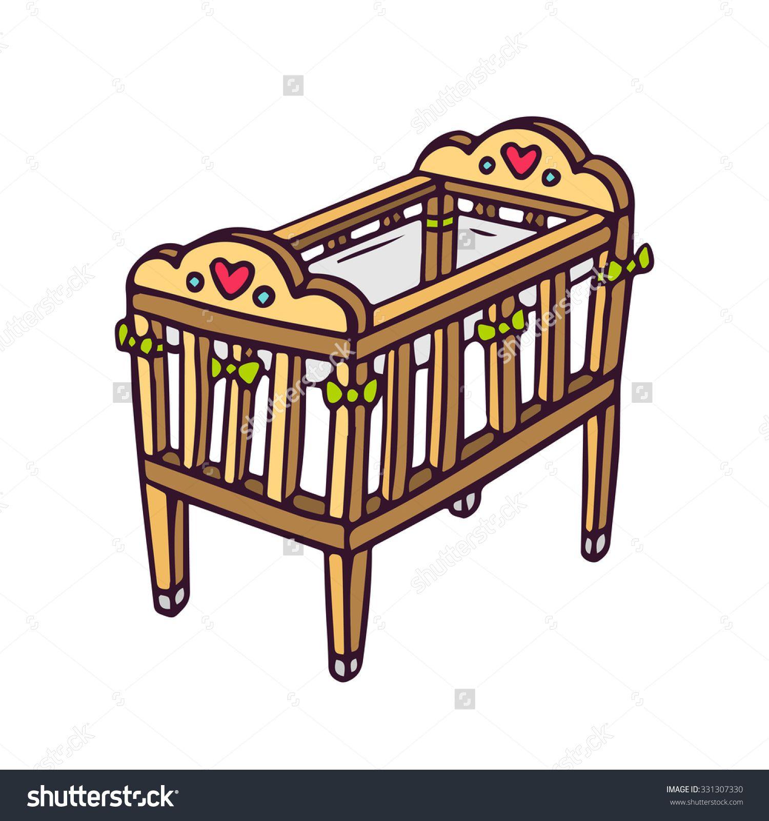 clipart cot clip arts galleries art gallery clip art baby cribs cot [ 1500 x 1600 Pixel ]