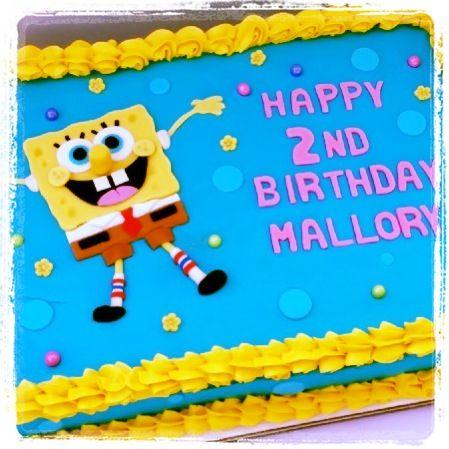 Pleasing Spongebob Sheet Cake Spongebob Birthday Cake Spongebob Cake Funny Birthday Cards Online Fluifree Goldxyz