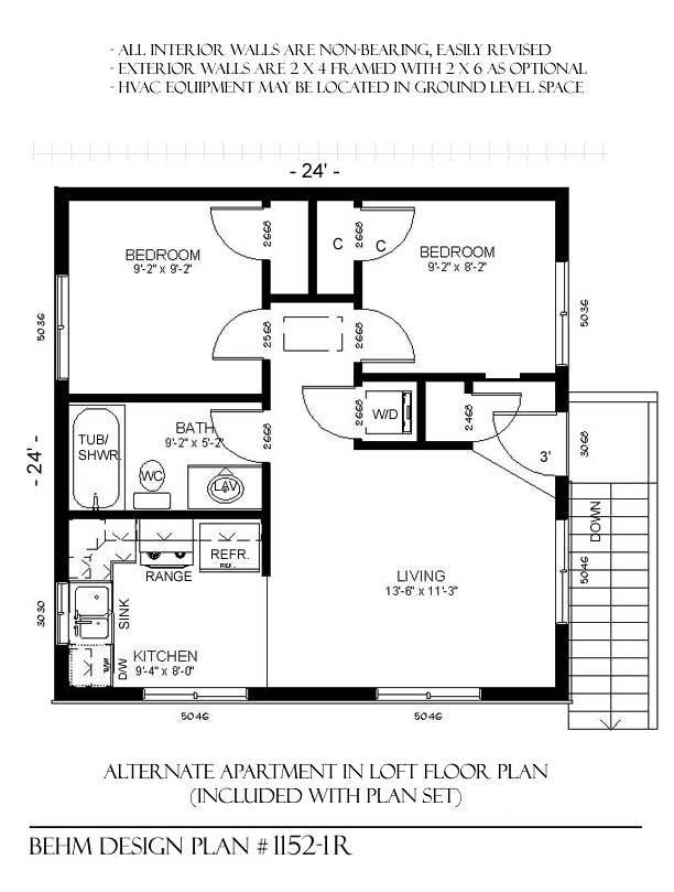 1152 1r 24 4 X 24 2 Car Two Story Behm Garage Plans House Plans Garage Apartment Plans How To Plan