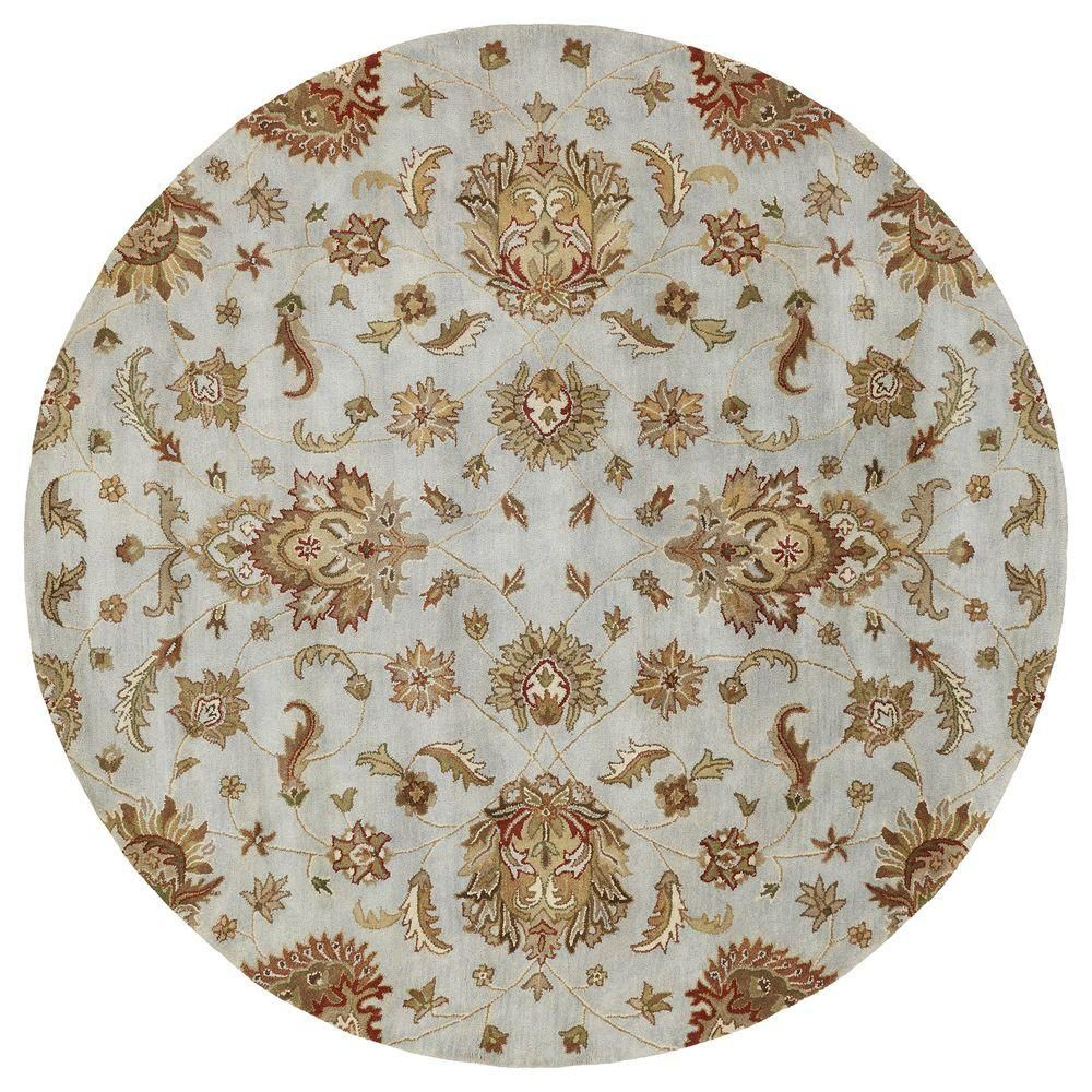 Kaleen Mystic Europa Pewter 8 Ft Round Area Rug 6060 73 7 9 Rnd