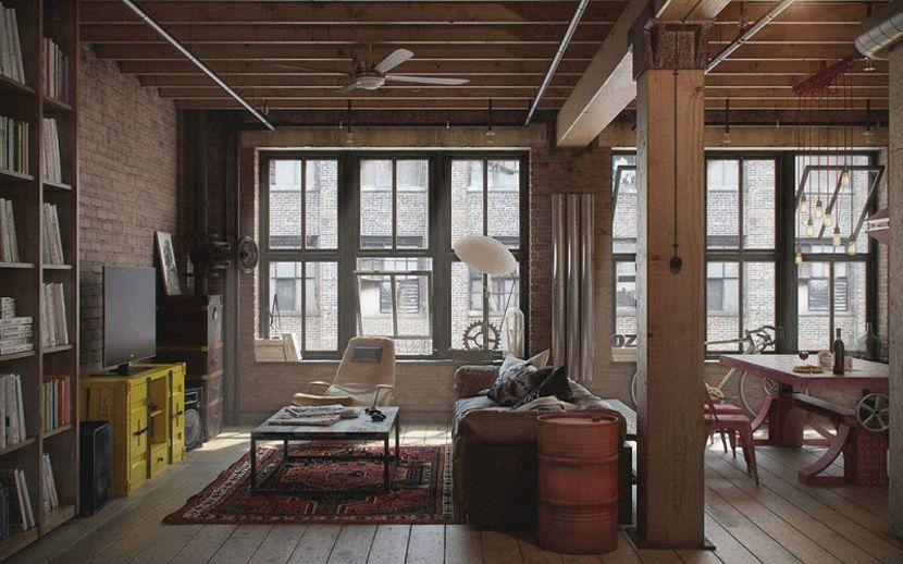 Stoere Industriele Loft : Stoere loft inrichting lofts interieur en douchecabine