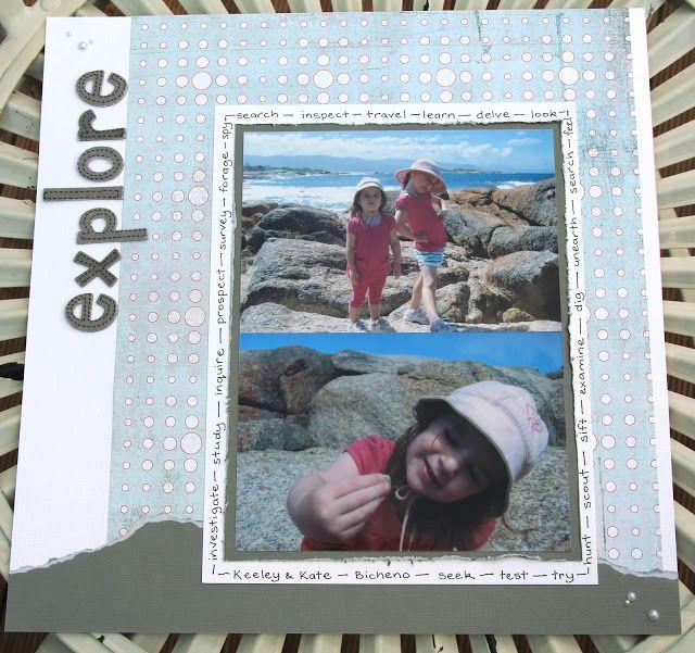 Mystical Challenge Scrapbooking Layouts Summer Vacation