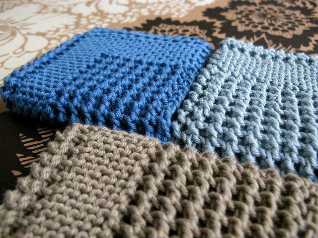Diagonal Knit Dishcloth | Waschlappen, Stricken und Häckeln