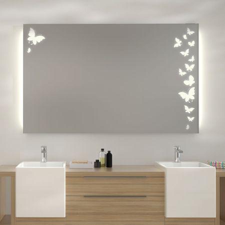 Spiegel mit LED Beleuchtung Ulm Badspiegel LED Pinterest - badezimmerspiegel mit led