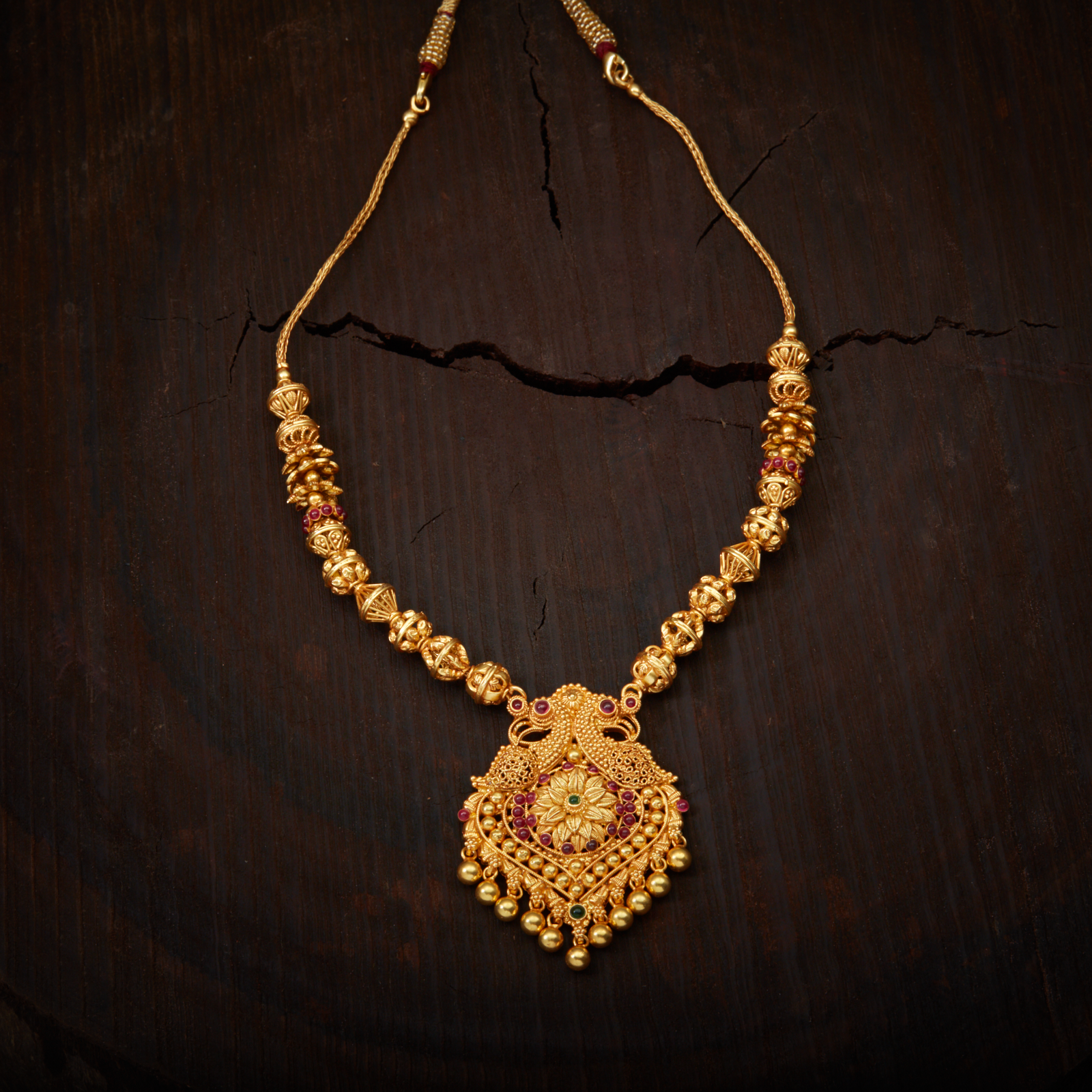 South Indian Traditional Silver Temple Jewellery Peacock ...