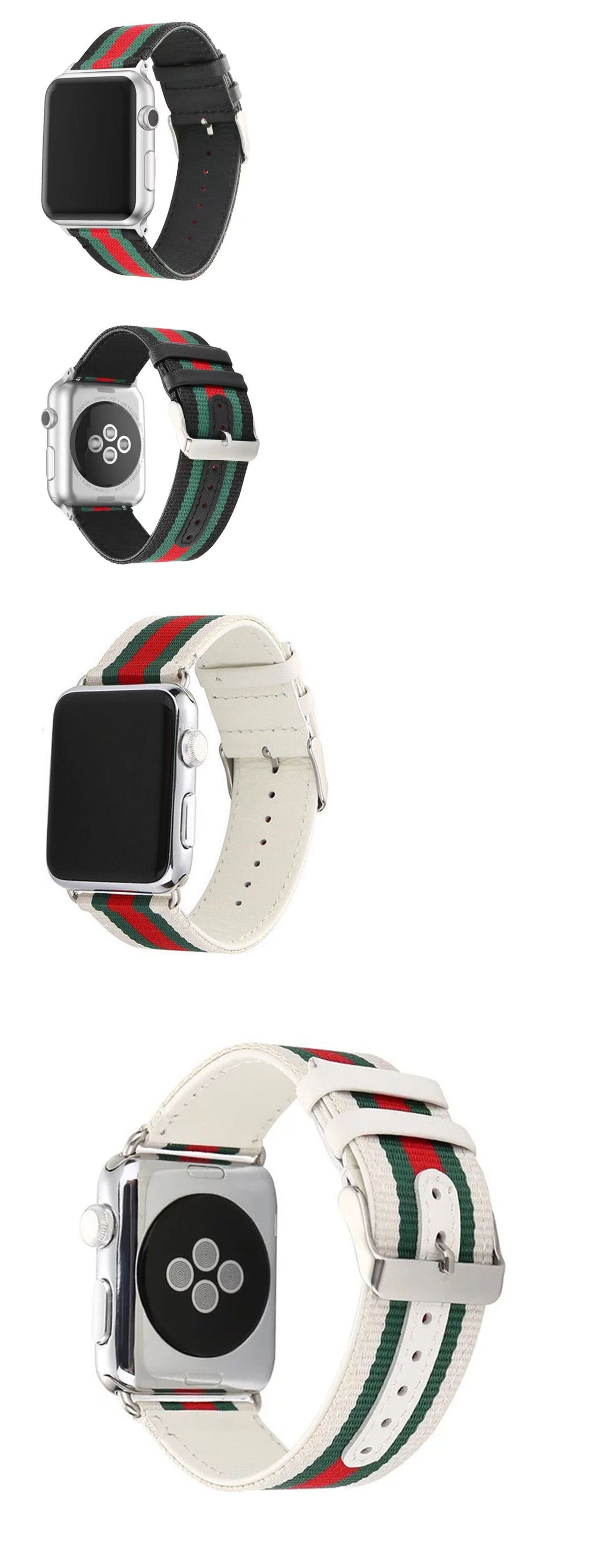 7ee2a2193ed Wristwatch Bands 98624  Leather Watch Bands Apple 38 42Mm Pattern Gucci  Nylon Sport New Replacement -  BUY IT NOW ONLY   12.99 on eBay!