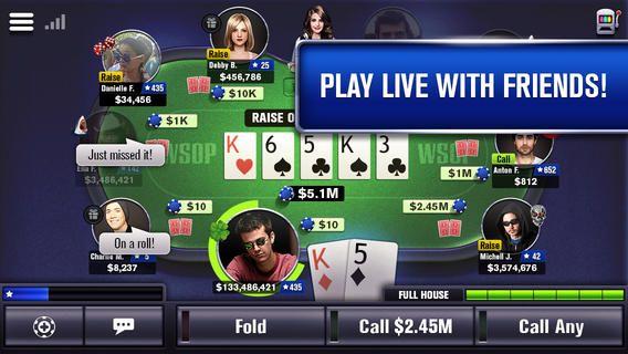 World Series of Poker WSOP Fun card games, Card games