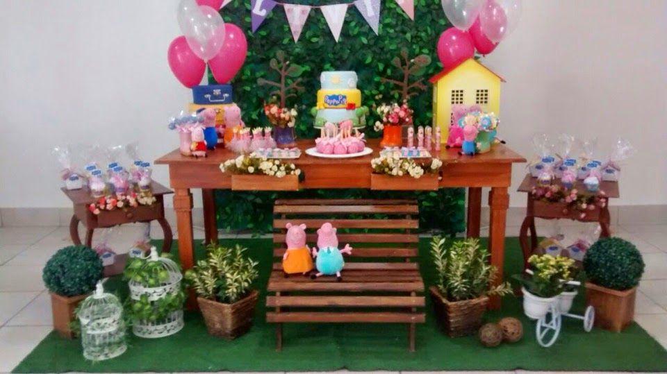 buffet infantil bauru dinos park decoração provençal peppa pig 3