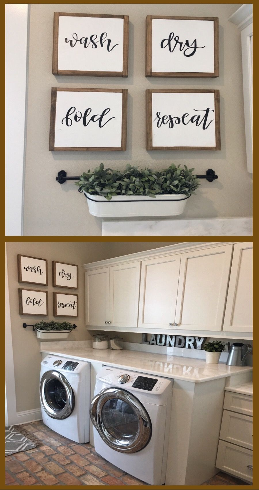 Great Set Of Signs For Laundry Room Wall Decor Set Of Four Signs Wash Dry Fold Repeat Sign R Laundry Room Signs Laundry Room Wall Decor Wall Decor Laundry