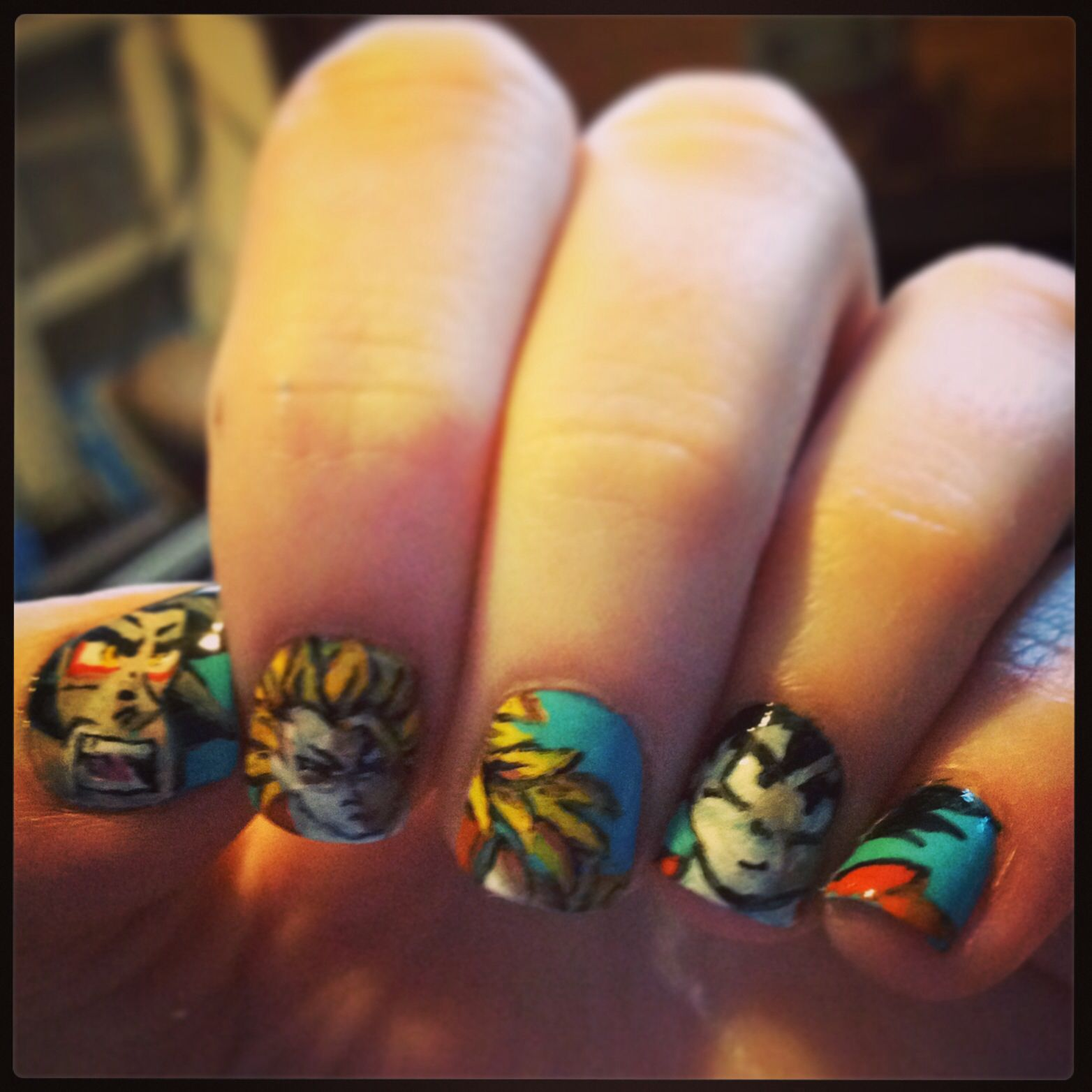 Dragon ball z nails I did on myself for fun | nerd shit | Pinterest ...