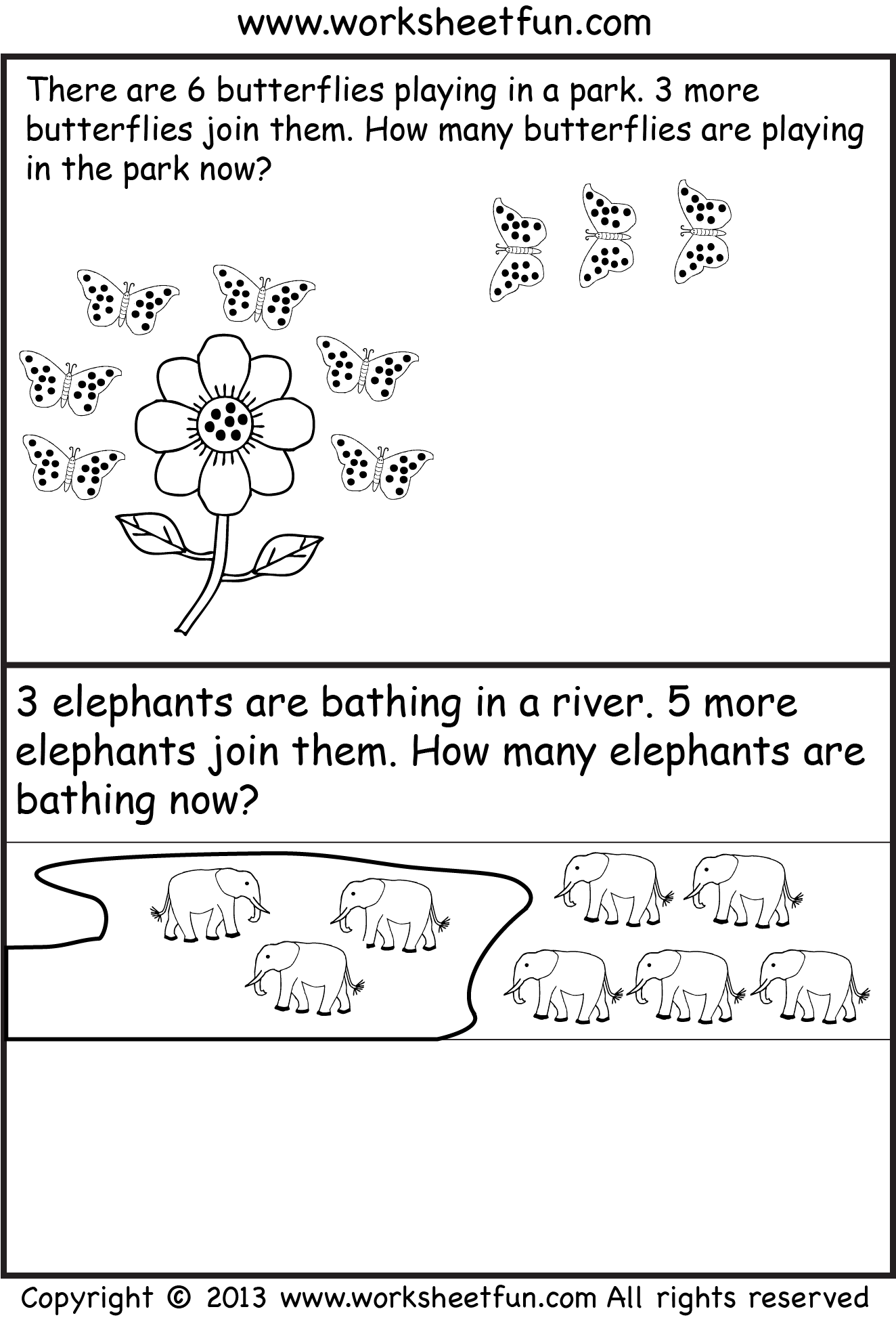 free printable kindergarten story math problems   Picture Word Problems  -Addition Word Problem…   Addition word problems [ 1955 x 1324 Pixel ]