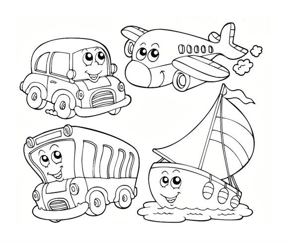 Hot air balloon preschool coloring pages transportation
