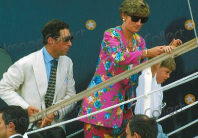 7.8.91 Princess Diana with Prince Charles on Holiday in Naples.  010813 Photo by Dave Chancellor-alpha-Globe Photos