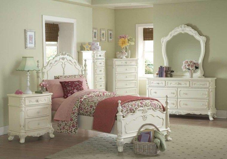 Época victoriana: muebles con fantasía romántica | Madera blanca ...