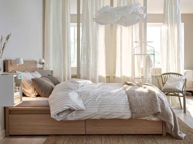 chambre bois blanc