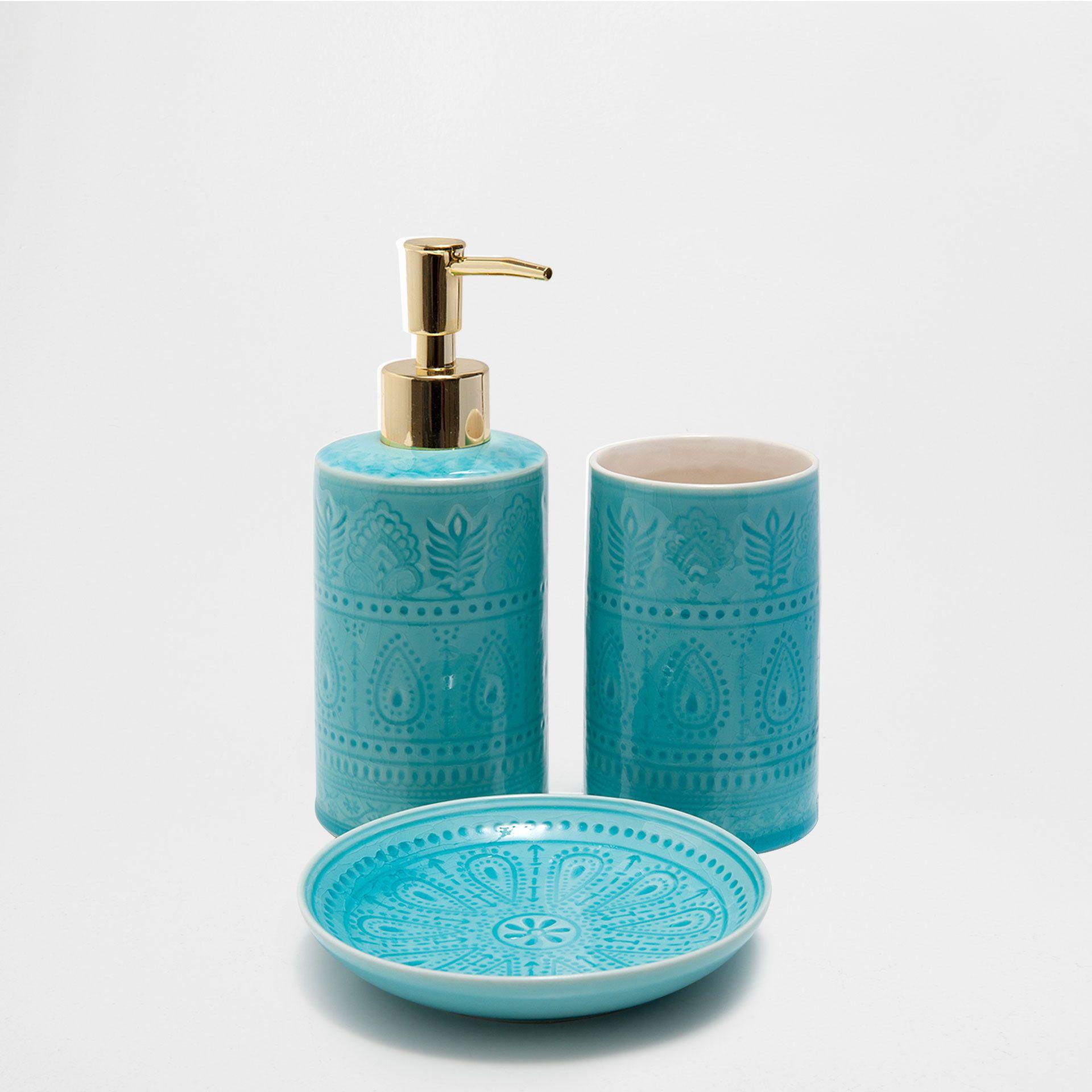 Turquoise Bathroom Set Mit Bildern Badezimmer Accessoires Bad