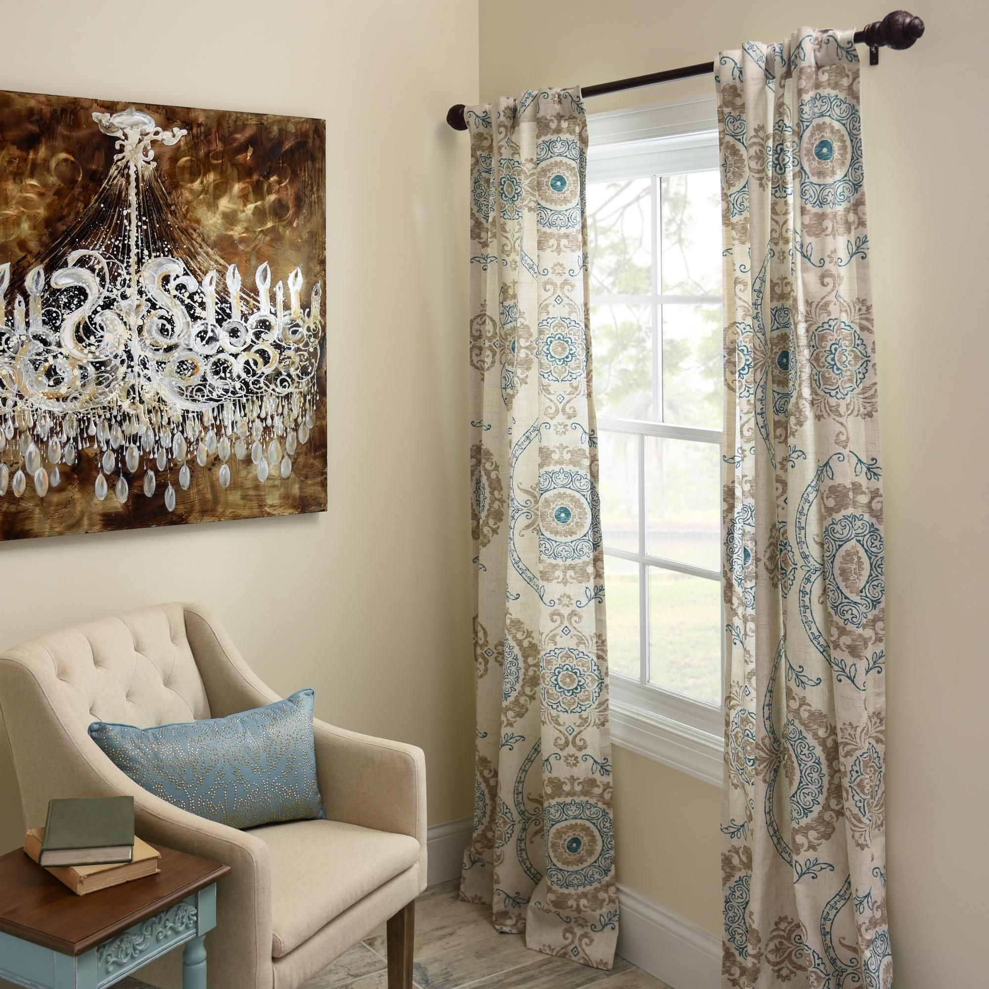 Product Details Aqua Loretta Curtain Panel Set 84 In