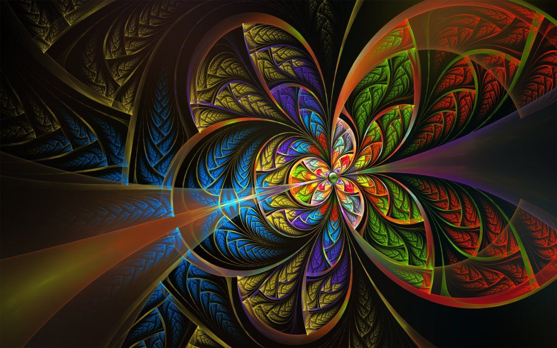 Splendid Colorful Fractal Abstract Wallpaper Free Image Download High Resolution Wallpaper