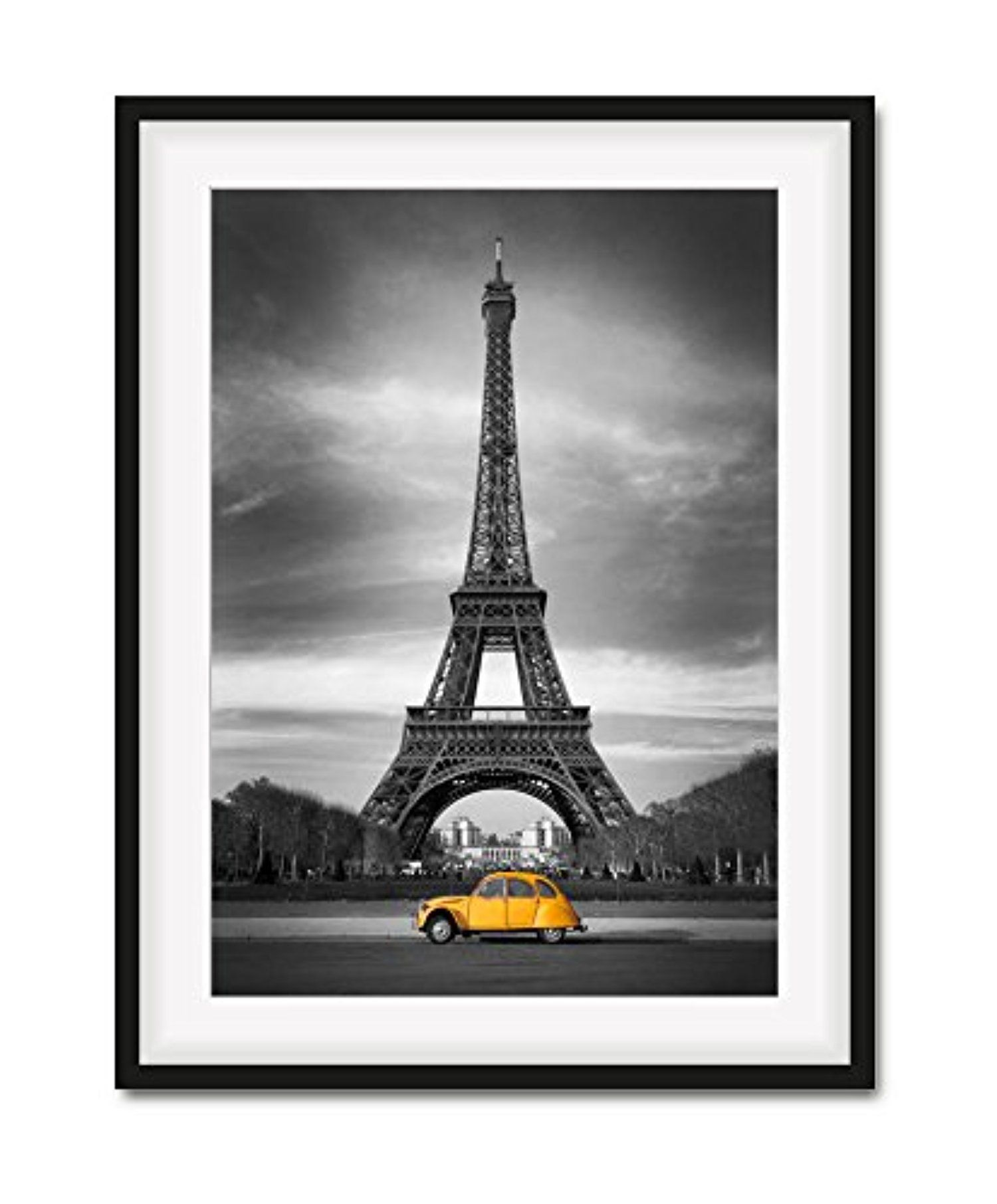 Paris Street Eiffel tower Photo  Print On Framed Canvas Wall Art Home Decoration