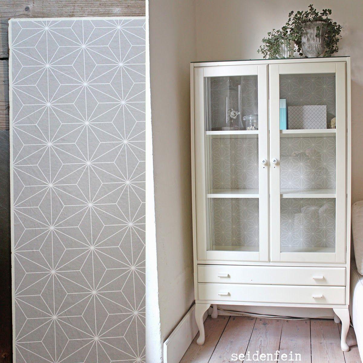 Seidenfeins dekoblog diy eine alte ikea vitrine for Diy wohnzimmer