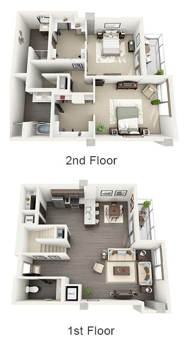 Spacious Floor Plans Luxury Apartments In Hollywood 1600 Vine Luxury Floor Plans Home Design Floor Plans Apartment Floor Plans