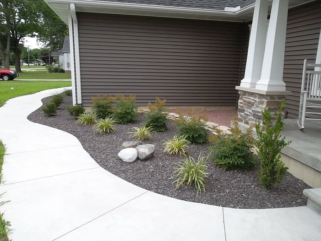 Astilbe/Liriope/Drystack Wall/Boulder/Landscape.....like this rock ...