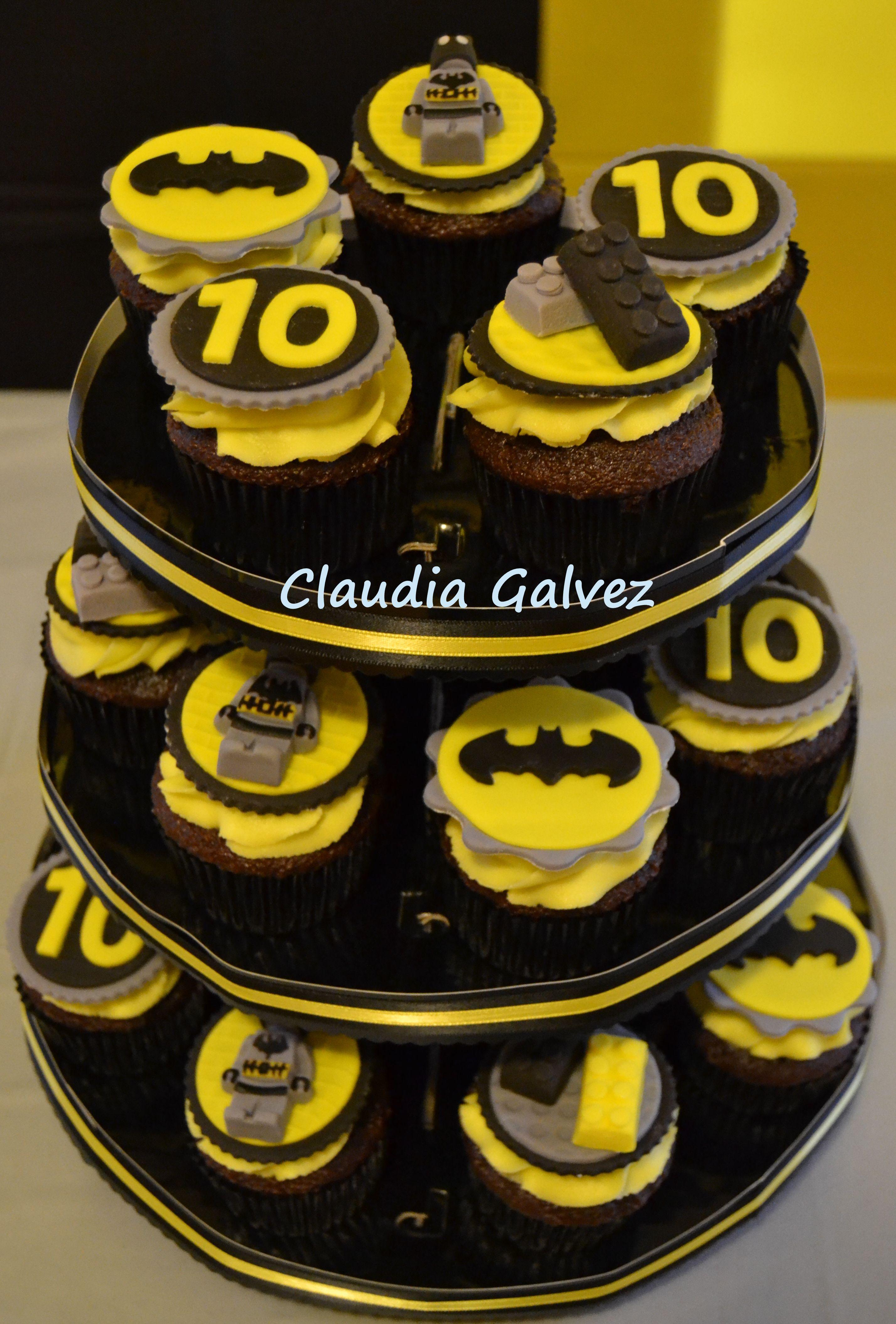 Lego Batman Cupcakes My Sons Birthday Parties Pinterest - Lego batman birthday cake