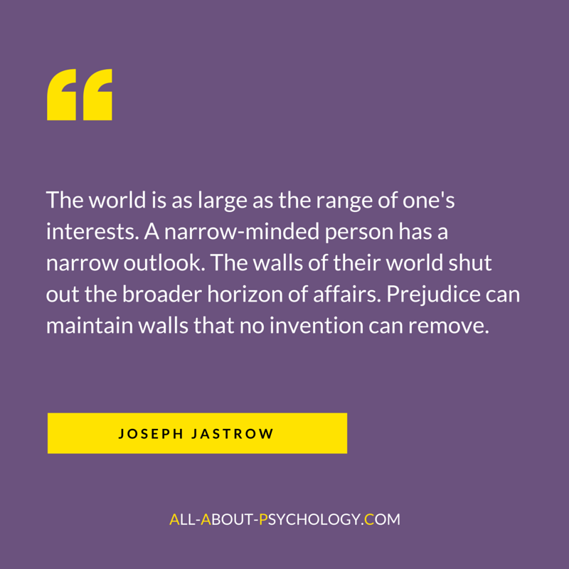 Classic quote by psychology pioneer Joseph Jastrow. Visit
