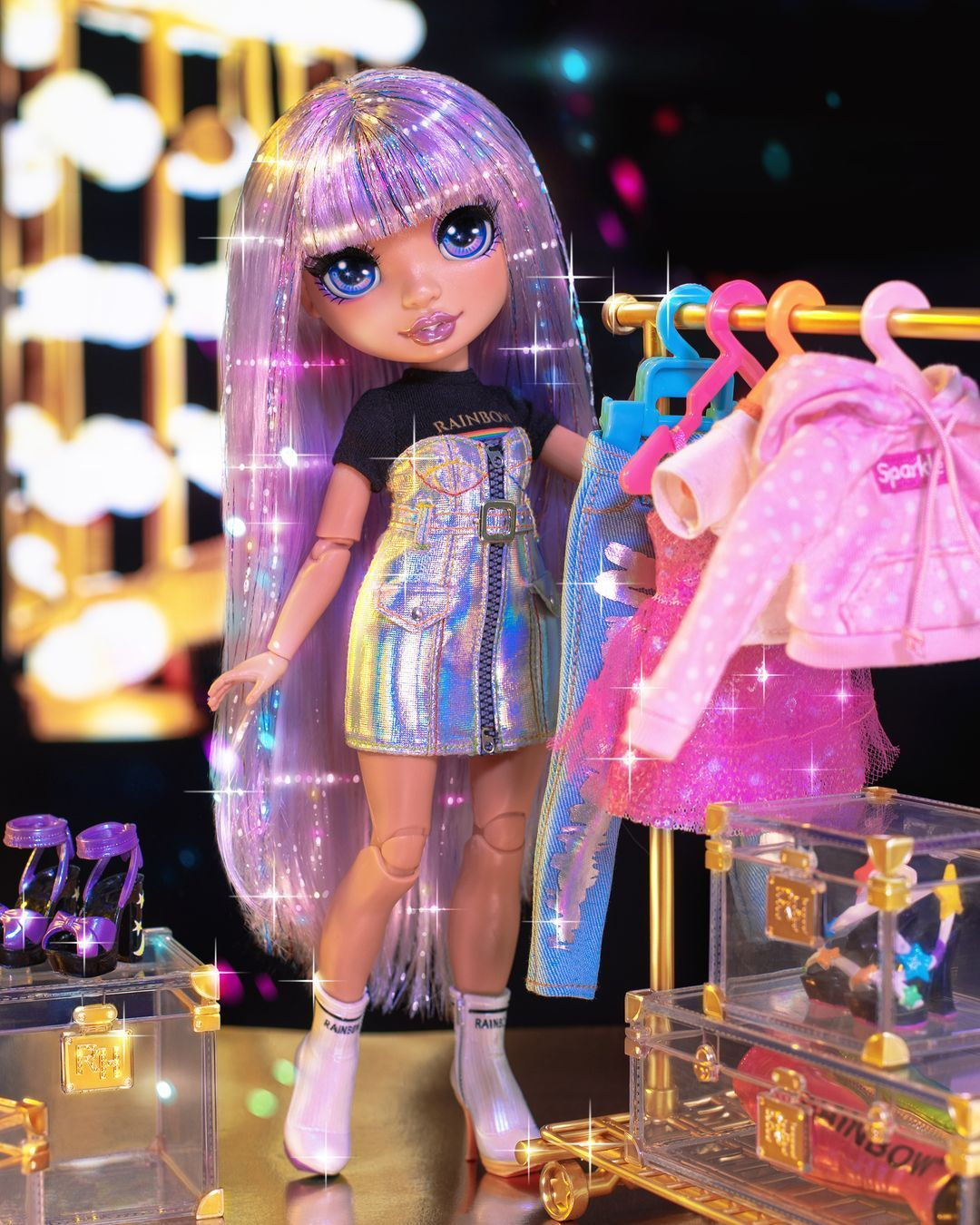 Details about  /Rainbow High Fashion Studio Avery Styles Doll /& Pink Purple Lavendar Wig NEW!